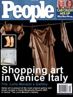 Shopping art in Venice Italy