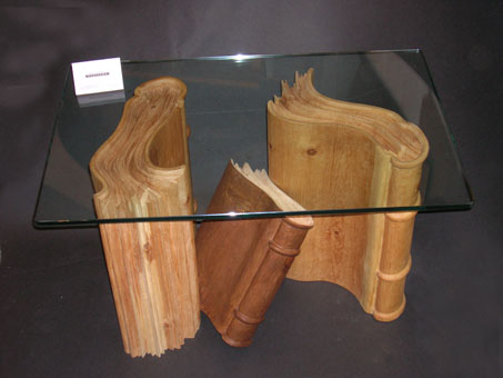 Table books in wood